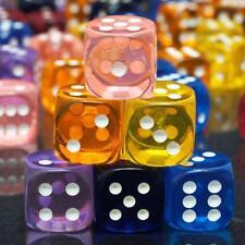 2xTransparente Sechsseitige Würfel D6 Punkt-Würfe Zufälli-Brettspiel