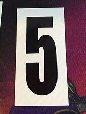 Go Kart - Number #5 - White Background - Large - NEW
