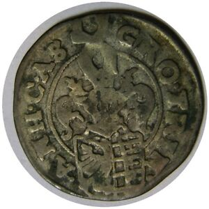 elf Germany Anhalt Joint Coinage 1 Groschen 1/24 Th 1622  Silver 30 Years' War