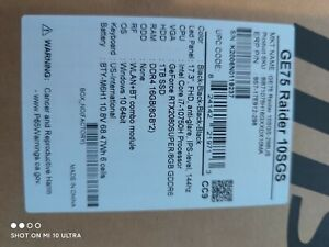 "MSI GE75 Raider 10SGS-298 17.3"" i7-10750H - 16GB RAM - 1TB SSD - RTX 2080 SUPER"