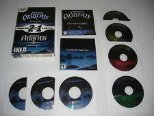Au-delà ATLANTIS 1 & 2 1 & II PC CD ROM 2 Point & Click Adventures-Rapide Post