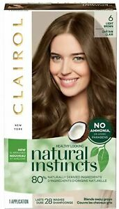 ORIGINAL CLAIROL NATURAL INSTINCTS HAIR COLOR #6 LIGHT BROWN FREE SHIPPING USA