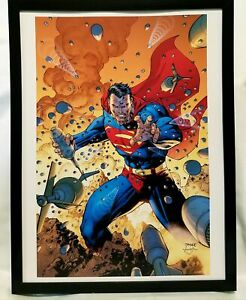 Superman by Jim Lee FRAMED 12x16 Art Print DC Comics Poster