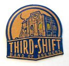 """Third Shift Breweries Patch Embroidered Ale 3-1/2"""" inch Miller / Coors"""