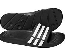 adidas DURAMO SLIDE Badeschuhe Badelatschen Saunaschuhe Pantoletten schwarz