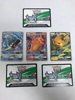 Pokemon Hidden Fates Promos Charizard Gyarados Raichu GX Code Cards Lot