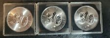 Lot of 3 - 2018 Canada Silver Maple Leaf 30th Anniversary .9999 Pure Silver 1oz