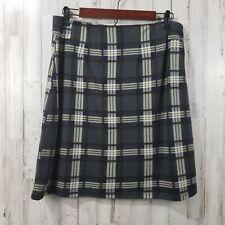 41 Hawthorn Womens Skirt M Gray Plaid Back Zip SOFT Lined A-Line