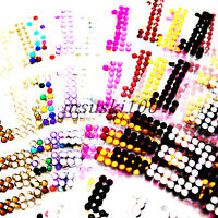 Number Stickers Rhinestones Sheet Self Adhesive Crystal Diamante Stick On Large