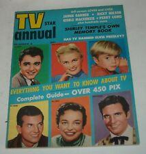 TV STAR ANNUAL # 4 MAGAZINE 1957 SAL MINEO PAT BOONE ELVIS LASSIE JON PROVOST