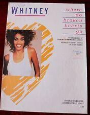 Whitney Houston dónde ir Corazones Rotos partituras (1985) clave + Top Line fácil