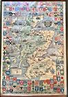 """Charming Vintage Graphic """"Historical Map of Scotland"""""""