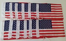 Lot 12 American Flags Car Motorcycle Antenna Flag Wholesale Small Flags Hemmed