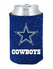 NFL Dallas Cowboys Glitter Bling Can Bottle Holder Koozie Coozie Navy Football
