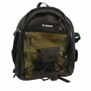 Canon Deluxe Backpack 200EG 10X14.75X5 Black & Olive  **EX**