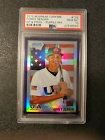2010 Bowman Chrome 1st Draft Purple Refractor COREY SEAGER Dodgers  PSA GEM 10🔥