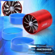 "3"" Jdm Whirlwind Air Intake Turbo Turbine Turbonator Eco Fuel/Gas Saver Fan Red"