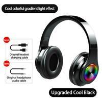 Wireless Bluetooth 5.0 Headphones Foldable Stereo Earphones SuperBass E2X1
