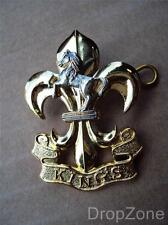 Genuine Issue The Kings Regiment (Manchester & Liverpool) Bi Metal Cap Badge