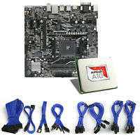 CSL Mainboard Bundle AMD A10-9700, ASUS Prime A320M-K Sleeved Kabel blau