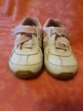 Stride Rite Toddler Size 5.5  Wide width White & Pink Sneakers