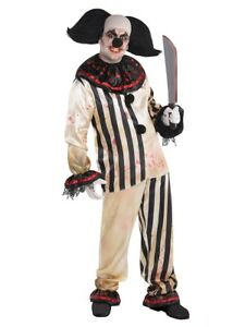 AMSCAN ADULT CLOWN SUIT AND WIG FREAK SHOW FANCY DRESS HALLOWEEN PARTY COSTUME