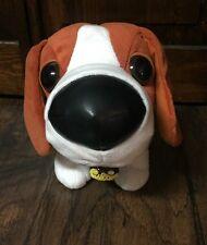 "Snubbies ""Beagle"" Plush w/Tiny Beagle Pup in Collar Charm, Ears Flip Up! GUC"