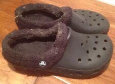 Crocs Lined Clog green/black Mens 7 Womens 9 mpc