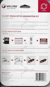 Velcro Brand Office Organization Kit NEW!! sticky back squares straps ties (L99)