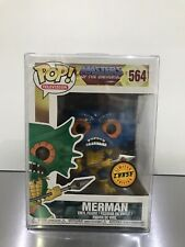 Funko Pop Television BLUE CHASE Merman 564 Masters of the Universe w/Protector