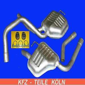 2 X Endschalldämpfer Ford MONDEO 2.5i 24V KOMBI Endtopf Auspuff Links  + Rechts