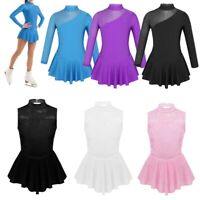 Girls Ice Figure Skating Dress Ballet Leotard Competition Latin Rumba Dancewear
