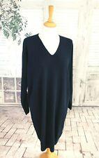 BNWT JAEGER Navy blue pure Cashmere jumper dress size M