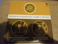"""Collectible Franklin D Roosevelt And Harry S Truman 33 Rpm Record 12"""""""