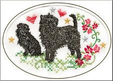 Affenpinscher Birthday Card Embroidered by Dogmania