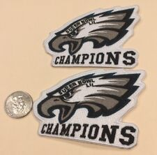 "(2)-Philadelphia Eagles 2018 Super Bowl Champions  Iron On Patches . 4""x3"""