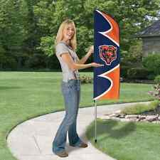 Chicago Bears 42 x 13 Swooper Flag w 6ft Pole NFL