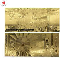 Russian 100 24k Gold Foil Gold Banknote World Cup Commemorative Plastic Card