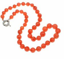"""Beautiful Natural Pink Coral Beaded Necklace 19""""/48cm"""