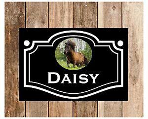 SHETLAND PONY STABLE DOOR custom horse sign 1043WBK Full colour signs ideal gift