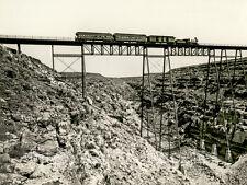 """John K. Hillers Photo, """"Santa Fe Railroad Over Canyon Diabolo""""  1871"""