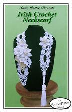 Crochet Irish Crochet Neckscarf ladies fashion crochet pattern by Annie Potter