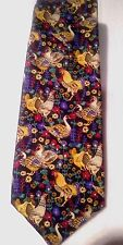 """Burberry's """"Rooster"""" themed 100% Silk """"R""""  Neck Tie REDUCED"""