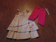NWT NEW JEAN BOURGET 9M/71 9 MONTHS TINY AUTH FILLE DRESS LEGGING SET
