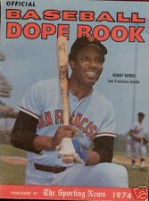 1974 Sporting News Dope Book -  Bobby Bonds on Cover EX