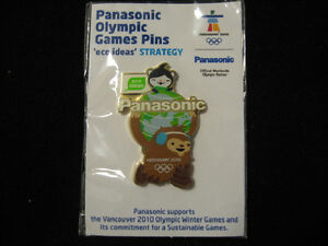 2010 VANCOUVER OLYMPIC JAPAN PIN BADGE PANASONIC PINS