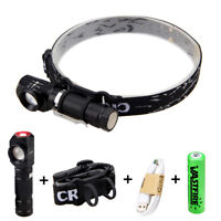 Zoom Focus 3modes 1000LM XM-L T6 Headlight Right Angle Flashlight  Light Outdoor