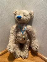 "10 ½ Inch Sparse English Mohair Bear ""Glacier"" by Sharon Queen of ""Queen Bears"""