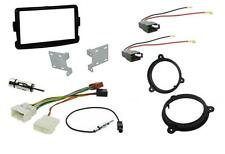 Dacia Duster Double Din PIANO BLACK Facia + ISO + Aerial Adapters + Speaker Pack