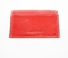 Claudio Ferrici Women Leather Card Holder Wallet Red